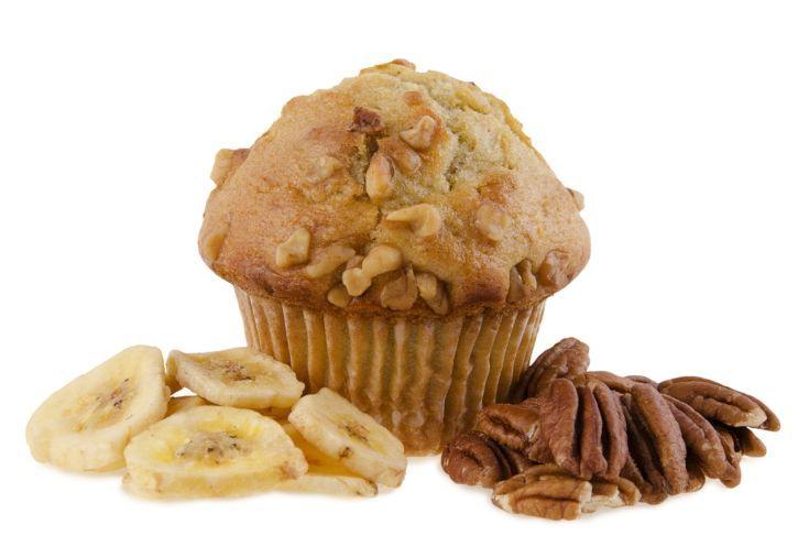 Banánové muffiny s orieškami