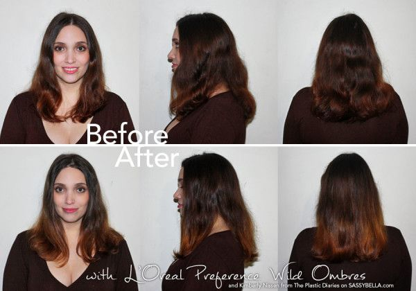 DIY at home ombre made easy with L'Oreal Paris Preference Wild Ombres. Starring Kimmi from @Kimmi @ The Plastic Diaries. http://www.sassybella.com/2013/06/diy-home-balayage-loreal-wild-ombre/