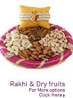 Rakhi and dry fruits http://www.lovenwishes.com/rakhidryfruit.htm