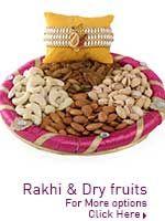 Rakhi and dry fruits http://www.lovenwishes.com/rakhidryfruit.htm
