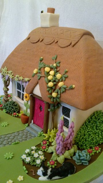 Thatched Cottage Cake  by peggypal, via Flickr