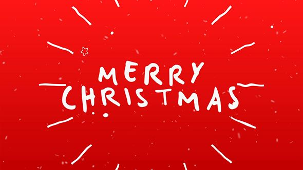 Christmas Christmas Typography Typography Card Videohive