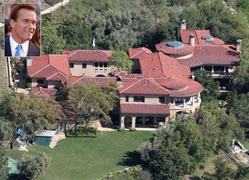 10 of the Most Expensive Celebrity Homes - Arnold Schwarzenegger, $23 million