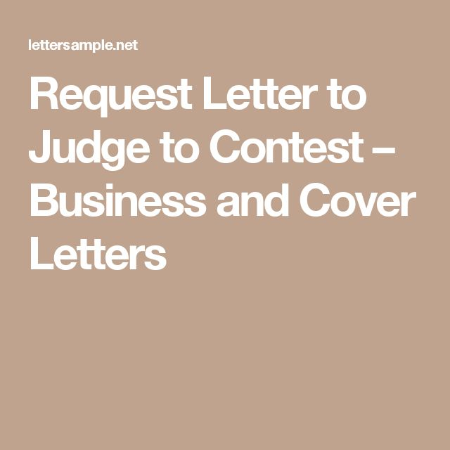 writing a business letter to a judge