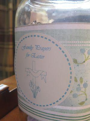 Free Printables for a Family Easter Prayer Jar