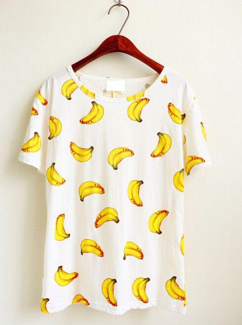 Harajuku cute fruit printing T-shirt