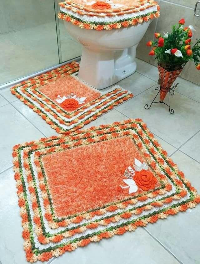 221 best fundas tejidas images on pinterest - Set de table crochet ...