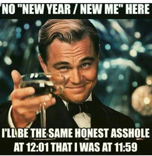 "No ""new year/new me"" here = let's keep expectations clear! :D #newyead"