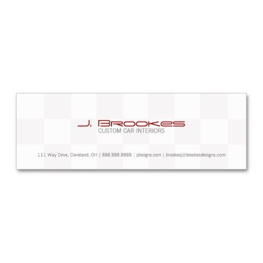Business Card   Checkered Flag. I love this design! It is available for customization or ready to buy as is. All you need is to add your business info to this template then place the order. It will ship within 24 hours. Just click the image to make your own!