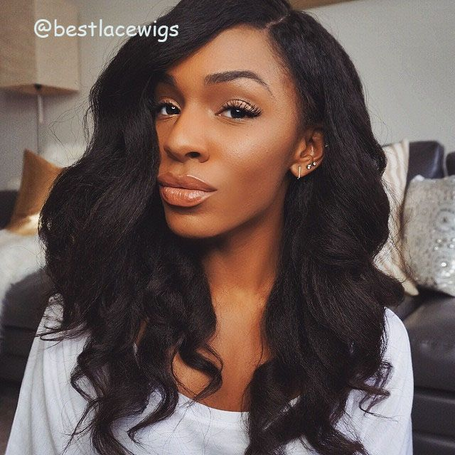 Kinky Straight Full Lace Wigs Kinky Straight Pinterest