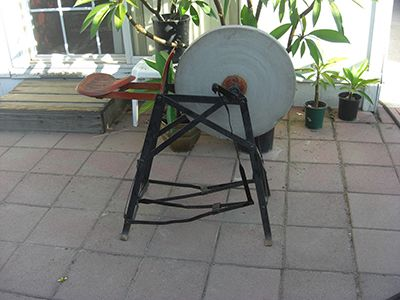 Treadle Grinding Stone Tools Pinterest Stones And