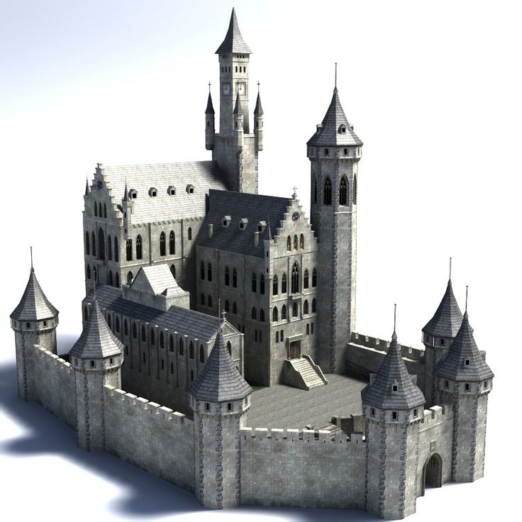 56 best images about daz studio castles on pinterest for Castle architecture design