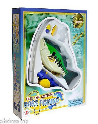 Feel The Action Bass Fishing Game - Battery Operated - Real In Fish In Bathtub!