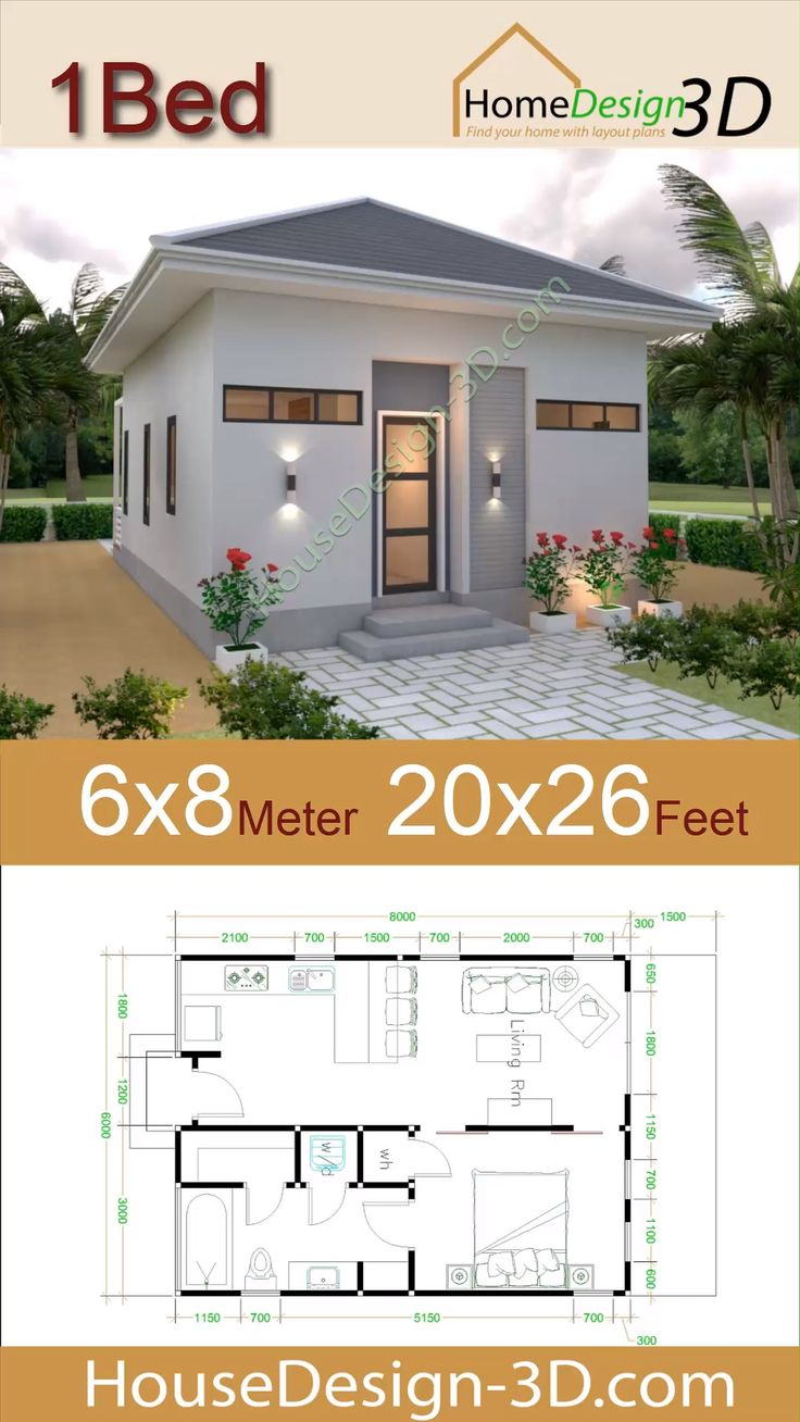 Studio House Plans 6x8 Hip Roof [Video] in 2020 Small