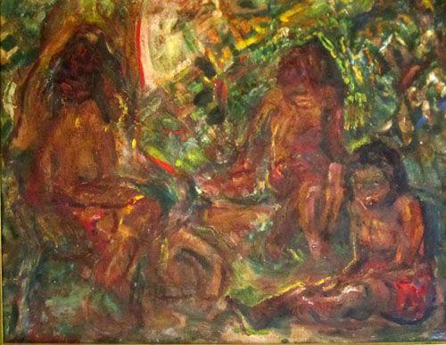 A.H.Gouwe,de baadsters, Tahiti