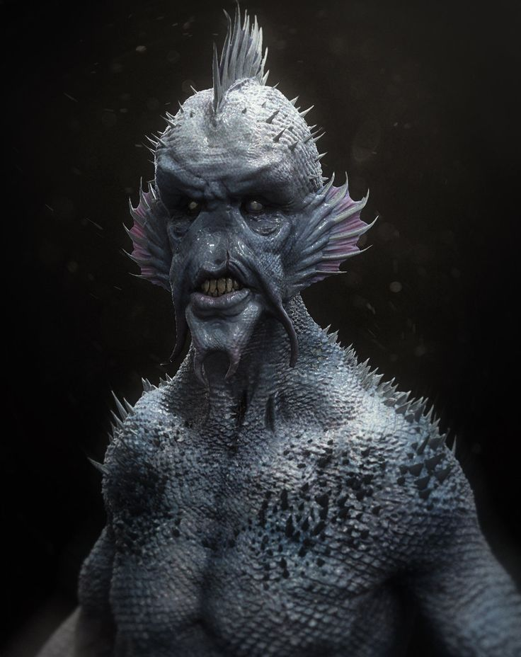 Fish Man Design, kevin demuynck on ArtStation at http://www.artstation.com/artwork/fish-man-design