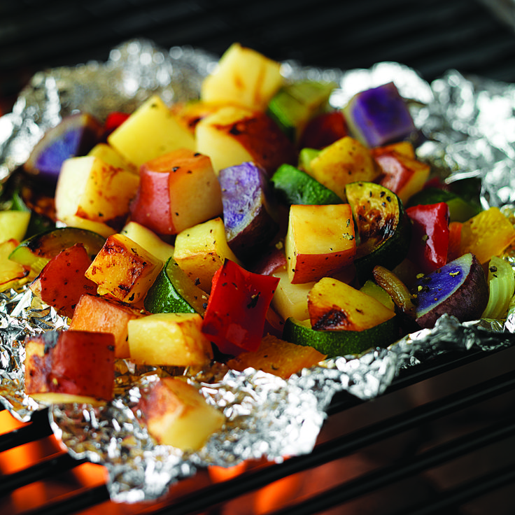 Grilled Potato Bake   Grilled Potato Recipe   Healthy Potato Recipes 4 points plus values per serving