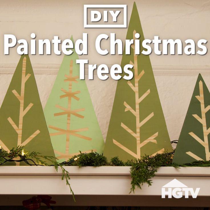 DIY Painted Christmas Tree Decor