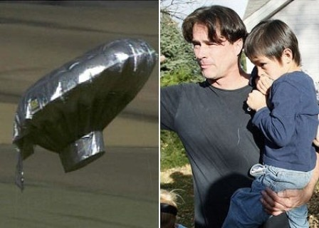 """""""Balloon Boy"""" Hoax -- Occurred on October 15, 2009 in Fort Collins, Colorado, when Richard and Mayumi Heene allowed a gas balloon filled with helium to float away into the atmosphere, and then claimed that their 6-year-old son Falcon was inside it. It was reported by the mass media that the boy was apparently traveling at altitudes reaching 7,000 feet in a homemade balloon colored and shaped to resemble a silver flying saucer-type of UFO. The event attracted worldwide attention."""