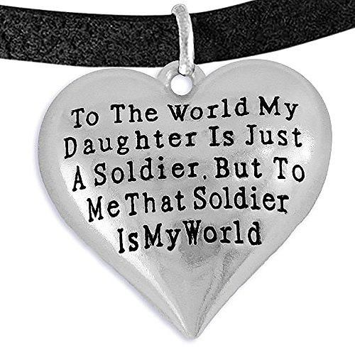 Army, Enlisted Daughter, My Daughter, She Is My World, Bracelet, Adjustable Hypoallergenic-Safe
