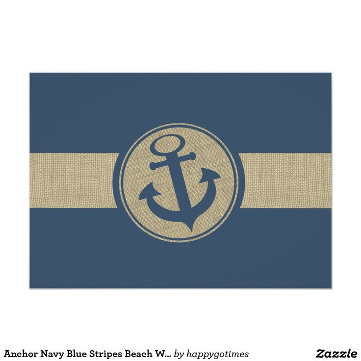 fast shipping wedding invitations%0A Shop Anchor Navy Blue Stripes Beach Wedding Response Card created by  happygotimes