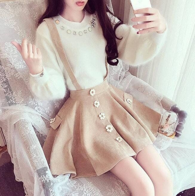 "Japanese sweet flowers braces skirt SE9280   Coupon code ""cutekawaii"" for 10% off"
