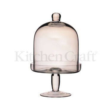 Kitchen Craft Glass domed serving stand