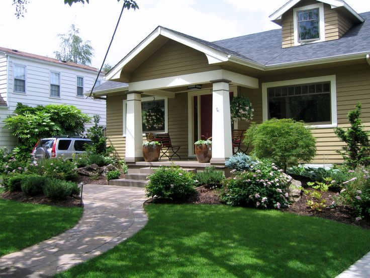 Fairly formal landscaping for craftsman style house 1924 - What is a craftsman style home ...