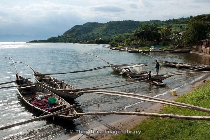 Fishing boats on Lake Kivu, Gisenyi, Rwanda