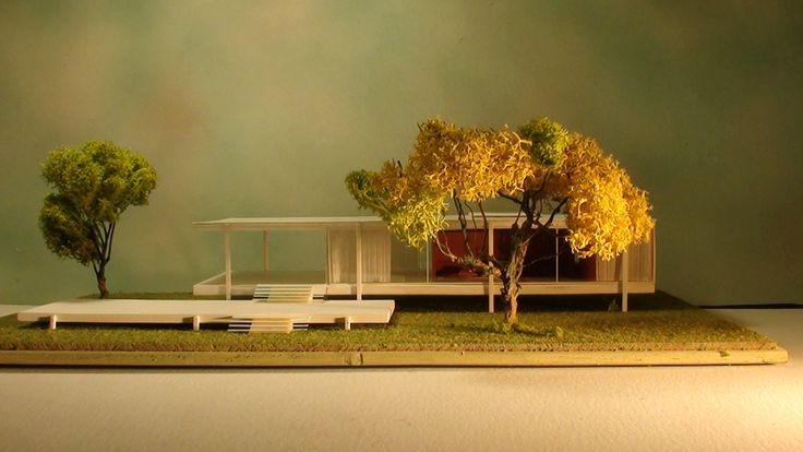Mies van der Rohe, FARNSWORTH HOUSE HISTORICAL ARCHITECTURAL MODELS info and shopping: hist.arch.models@gmail.com