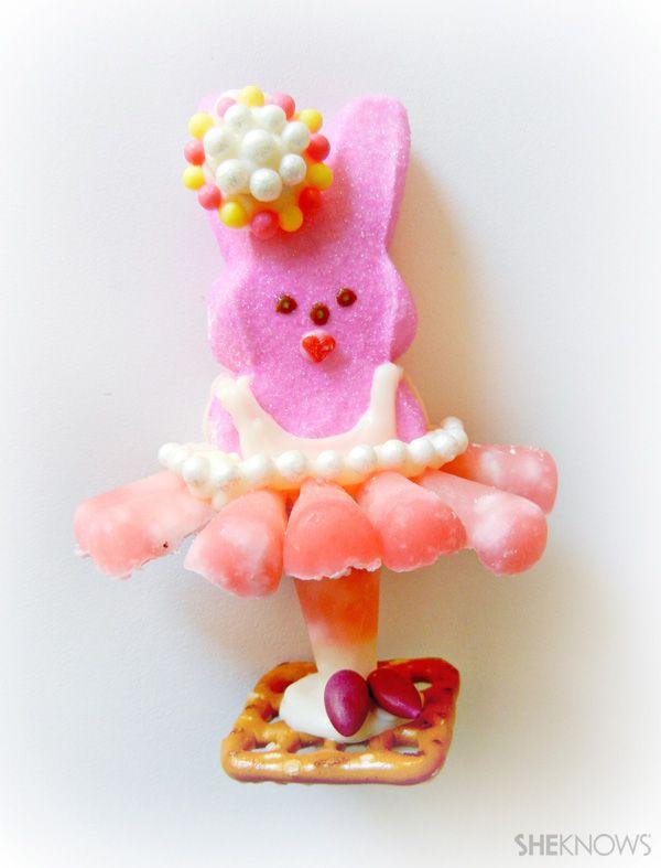 Pirouetting Peeps - Bunny Ballerina  <3: Tutusrock Expressyourpeepson, Marshmallows Crafts, Food, Turning Peep, Peep Expressyourpeepson, Peep Treats, Ballerinas Peep, Dancers Expressyourpeepson, 31 Things