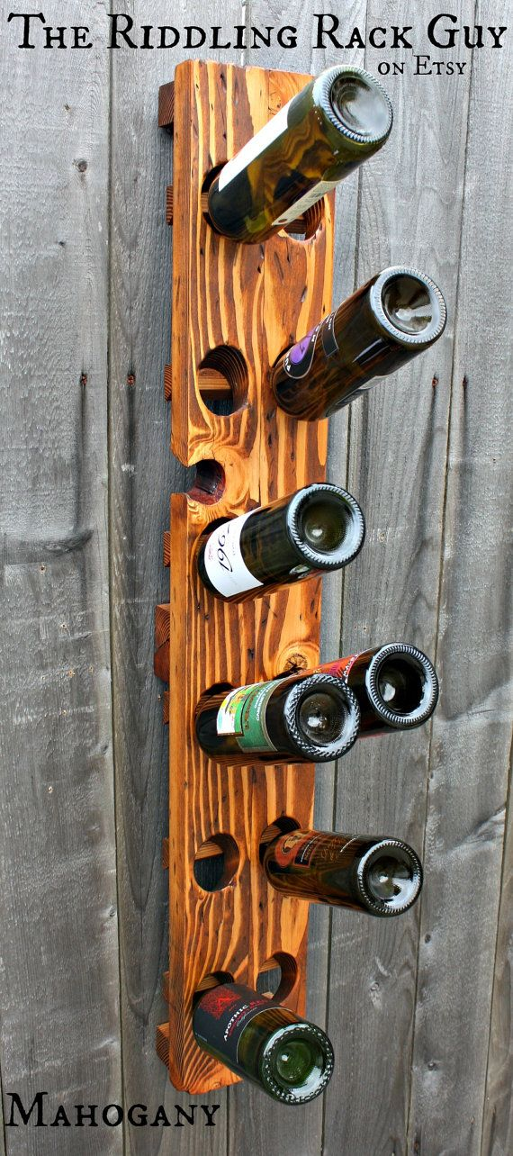 Riddling Rack 12 Bottle 2X6 Wall Mount by TheRiddlingRack