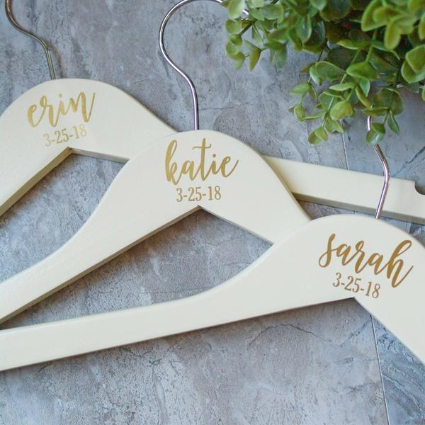 Wedding Hangers Personalized Bridesmaid Hangers Wedding Hangers Bride Hanger