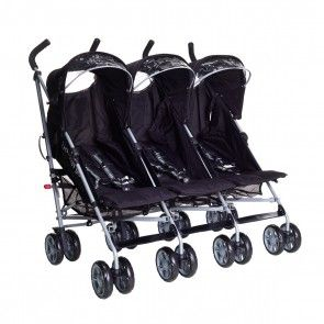 Citi Elite Triple Pushchair Midnight Black  610370758564