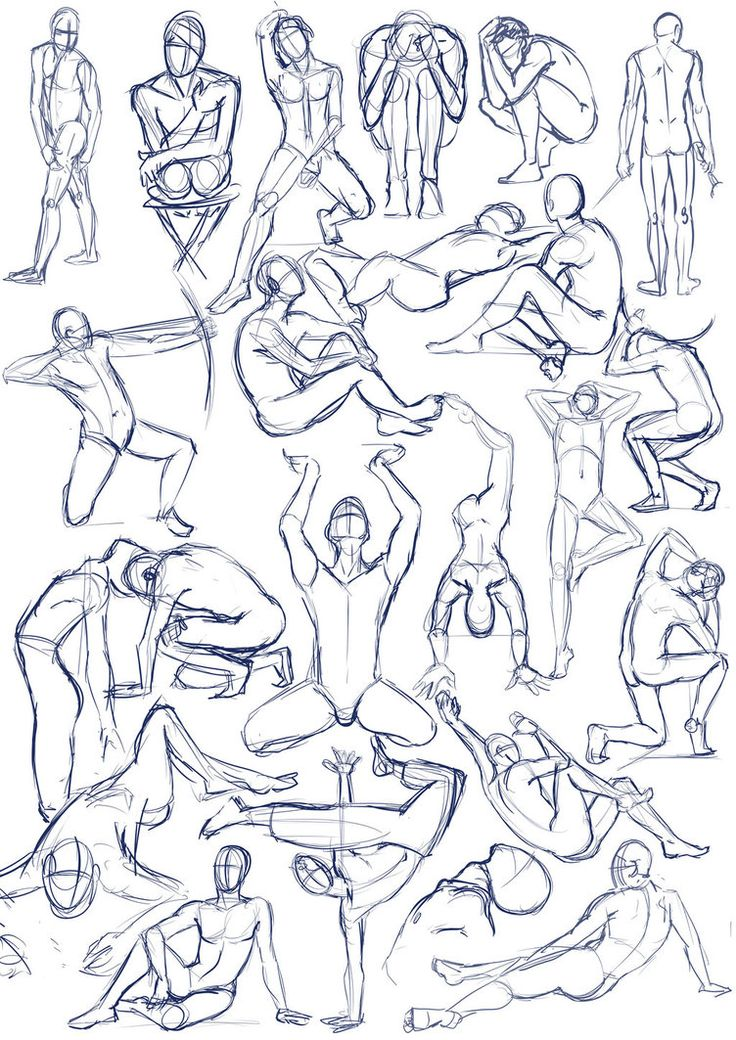 Pen January 2011 These are just some random figure study sketches of male anatomy. I didn't use any photos or live model for reference, just tried to put down some interesting and varied poses. I t...