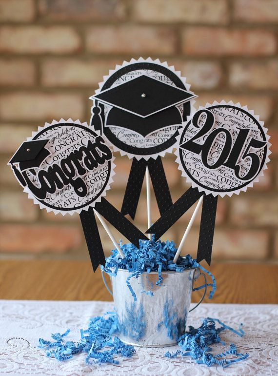 Hey, I found this really awesome Etsy listing at https://www.etsy.com/listing/223536176/graduation-2015-centerpiece-set
