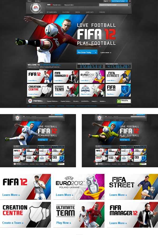 EA SPORTS FIFA 12 on Web Design Served