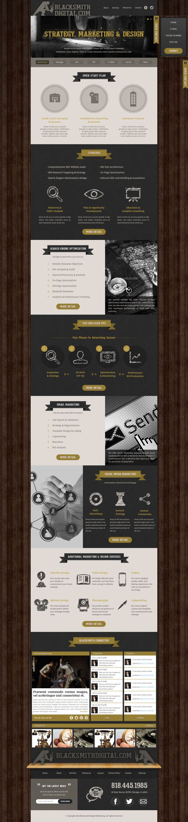 Digital Agency Blacksmithdigital.com wesite design by Jade Choi, via Behance