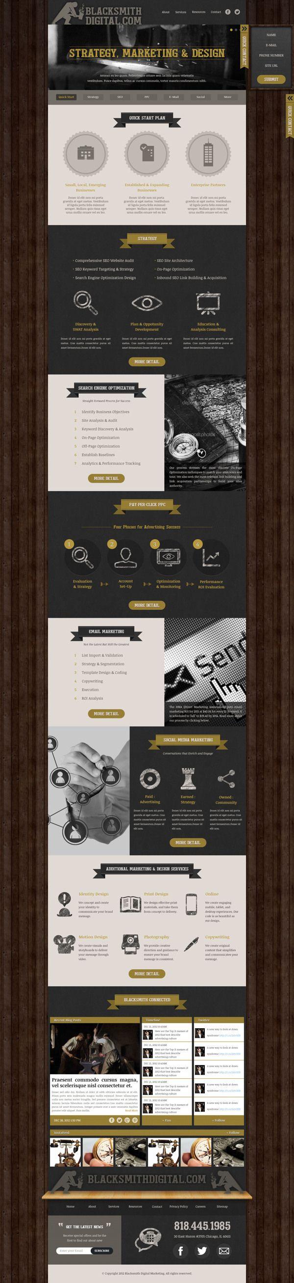 Digital Agency Blacksmithdigital.com wesite design