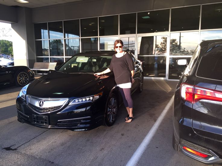 Kristie and her new 2015 Acura TLX! Thanks to her sales