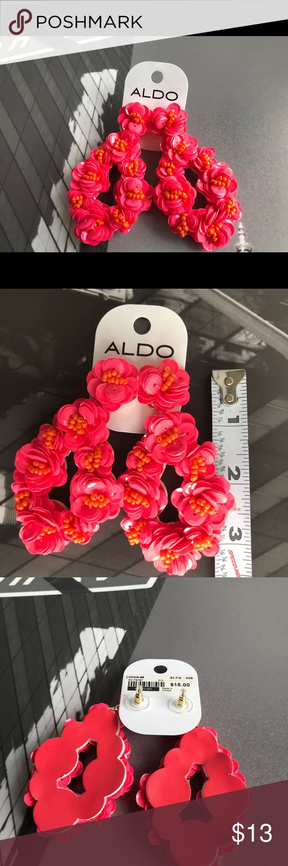 🙌🏾 Brand New Aldo Beaded Earrings #0264AO Brand new bright pink beaded earrings with a faux leather back. Liuiua-86 Bundle and Save 10%#aldoaccessories #pinkearrings #earrings #aldo #women #earrings Aldo Jewelry Earrings