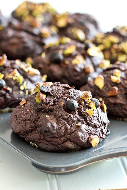 Pumpkin Zucchini Dark Chocolate Muffins | by Sonia! The Healthy Foodie