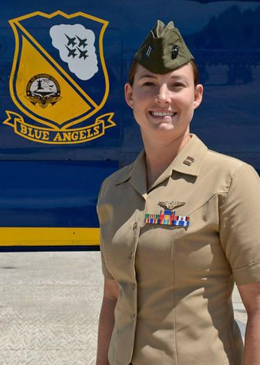 First Female USNA grad named to Blue Angels squadron
