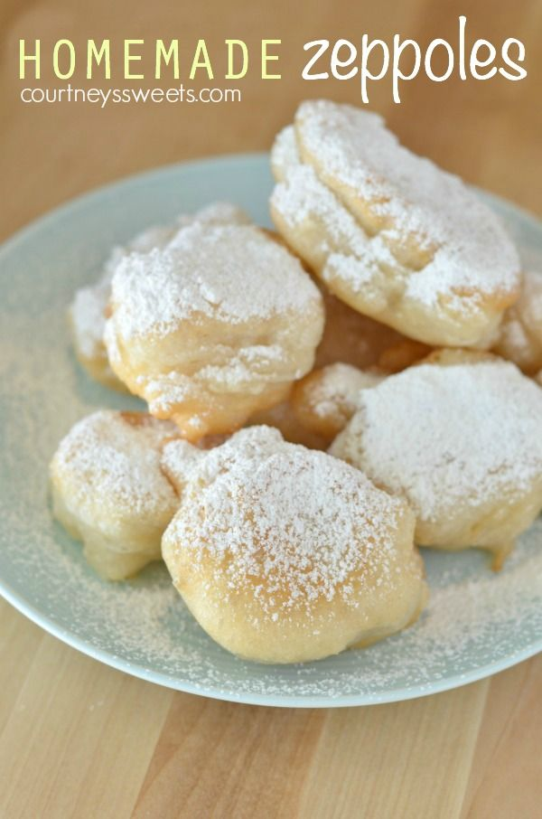 Homemade Fried Dough Zeppoles Recipe Without Ricotta is a family favorite Italian treat. Covered in powdered sugar and usually found at Carnivals.