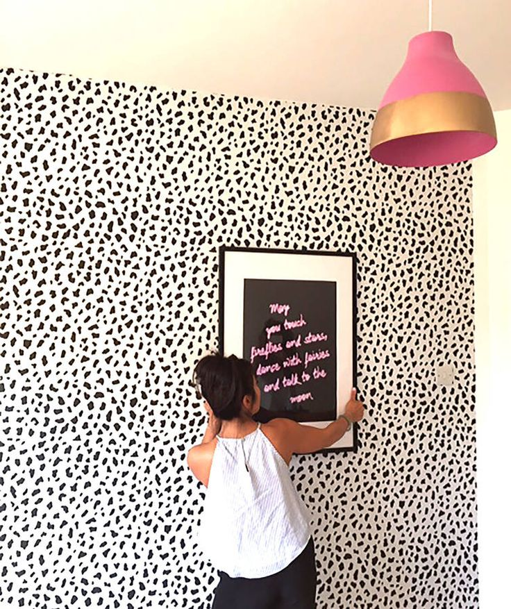 Shop: Our gorgeous leopard print wallpaper  Black and white wallpaper  #leopard #dalmation #spots #print #wallpaper