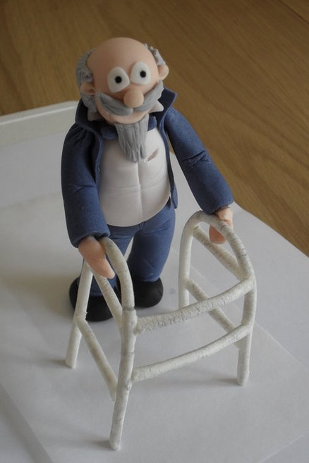 19 best Old people cakes images on Pinterest Fondant figures