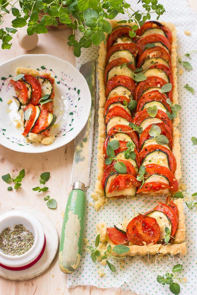 Tarta z cukinią, pomidorami i parmezanem/ blog Chilli, Czosnek i Oliwa