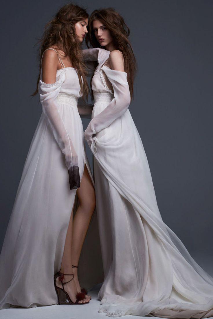 Simona & Serafina Vera Wang Bridal 2017 - HarpersBAZAAR.com