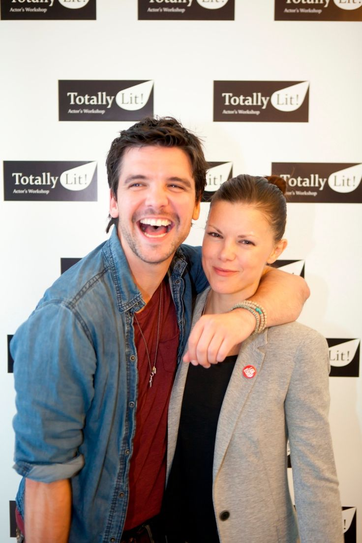 Star of BBC TV Series 'Primeval' Andrew Lee Potts and Sister Sarah Jane Potts Star of 'Holby City' and 'Kinky Boots' supporting us at our Launch of Totally Lit!