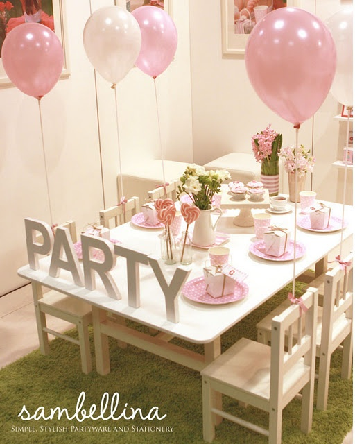 Pink Party - BABY GIRL or last name instead of the word party